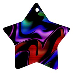 Hot Abstraction With Lines 2 Star Ornament (two Sides)