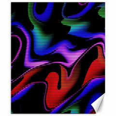 Hot Abstraction With Lines 2 Canvas 8  X 10