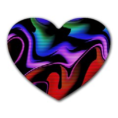 Hot Abstraction With Lines 2 Heart Mousepads