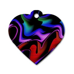 Hot Abstraction With Lines 2 Dog Tag Heart (two Sides)