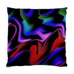 Hot Abstraction With Lines 2 Standard Cushion Case (two Sides)