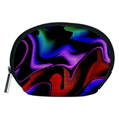 Hot Abstraction With Lines 2 Accessory Pouches (medium)