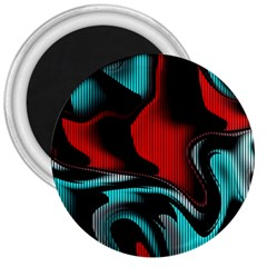 Hot Abstraction With Lines 3 3  Magnets