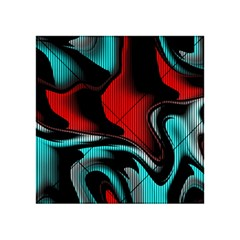 Hot Abstraction With Lines 3 Acrylic Tangram Puzzle (4  X 4 )
