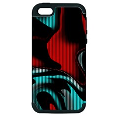 Hot Abstraction With Lines 3 Apple Iphone 5 Hardshell Case (pc+silicone)