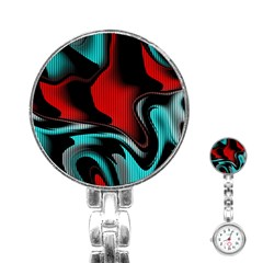 Hot Abstraction With Lines 3 Stainless Steel Nurses Watch