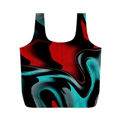 Hot Abstraction With Lines 3 Full Print Recycle Bags (m)