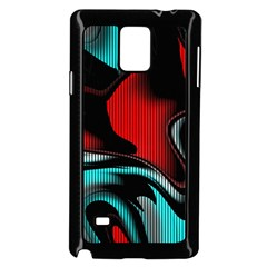 Hot Abstraction With Lines 3 Samsung Galaxy Note 4 Case (black)