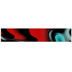 Hot Abstraction With Lines 3 Large Flano Scarf