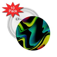 Hot Abstraction With Lines 4 2 25  Buttons (10 Pack)
