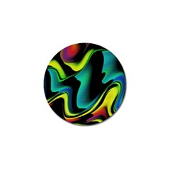 Hot Abstraction With Lines 4 Golf Ball Marker