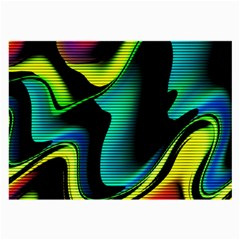 Hot Abstraction With Lines 4 Large Glasses Cloth (2 Side)