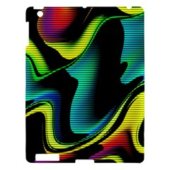 Hot Abstraction With Lines 4 Apple Ipad 3/4 Hardshell Case
