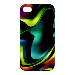 Hot Abstraction With Lines 4 Apple Iphone 4/4s Premium Hardshell Case