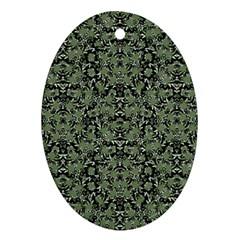 Camouflage Ornate Pattern Ornament (oval)