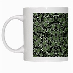 Camouflage Ornate Pattern White Mugs
