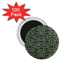 Camouflage Ornate Pattern 1 75  Magnets (100 Pack)