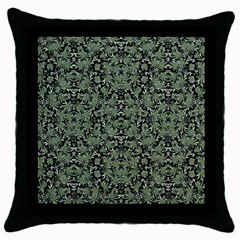 Camouflage Ornate Pattern Throw Pillow Case (black)