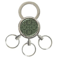 Camouflage Ornate Pattern 3 Ring Key Chains
