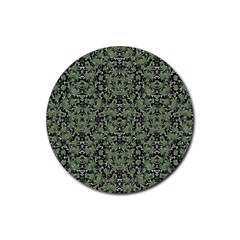 Camouflage Ornate Pattern Rubber Round Coaster (4 Pack)