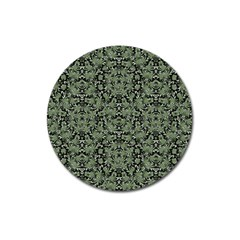 Camouflage Ornate Pattern Magnet 3  (round)