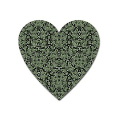 Camouflage Ornate Pattern Heart Magnet