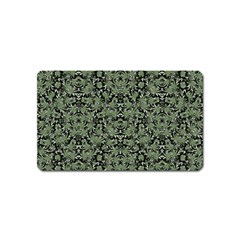 Camouflage Ornate Pattern Magnet (name Card)