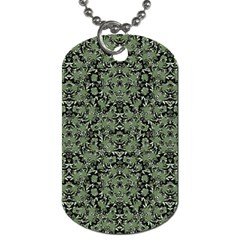 Camouflage Ornate Pattern Dog Tag (one Side)