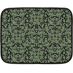 Camouflage Ornate Pattern Double Sided Fleece Blanket (mini)