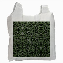 Camouflage Ornate Pattern Recycle Bag (one Side)