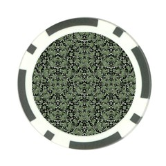 Camouflage Ornate Pattern Poker Chip Card Guard (10 Pack)