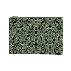 Camouflage Ornate Pattern Cosmetic Bag (large)