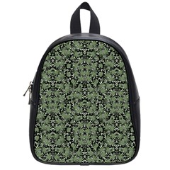 Camouflage Ornate Pattern School Bag (small)