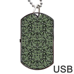 Camouflage Ornate Pattern Dog Tag Usb Flash (two Sides)