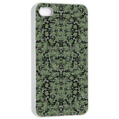 Camouflage Ornate Pattern Apple Iphone 4/4s Seamless Case (white)