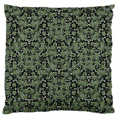 Camouflage Ornate Pattern Large Cushion Case (two Sides)