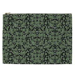 Camouflage Ornate Pattern Cosmetic Bag (xxl)