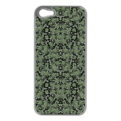 Camouflage Ornate Pattern Apple Iphone 5 Case (silver)