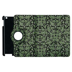 Camouflage Ornate Pattern Apple Ipad 2 Flip 360 Case