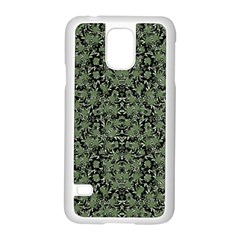Camouflage Ornate Pattern Samsung Galaxy S5 Case (white)
