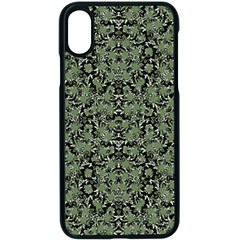 Camouflage Ornate Pattern Apple Iphone X Seamless Case (black)