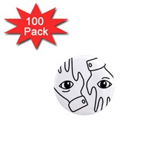 Hands 1  Mini Magnets (100 Pack)