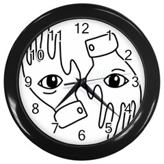 Hands Wall Clocks (black)
