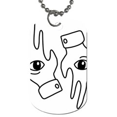 Hands Dog Tag (one Side)