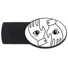 Hands Usb Flash Drive Oval (4 Gb)