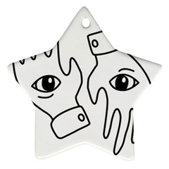 Hands Star Ornament (two Sides)