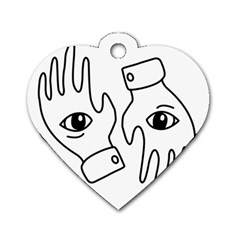 Hands Dog Tag Heart (two Sides)