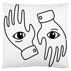 Hands Large Cushion Case (two Sides)