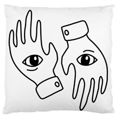 Hands Large Flano Cushion Case (two Sides)