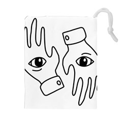 Hands Drawstring Pouches (extra Large)